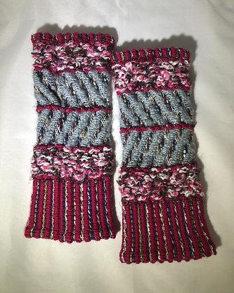 Woven Fingerless Gloves : 200585 Col 2 - Jijou Capri