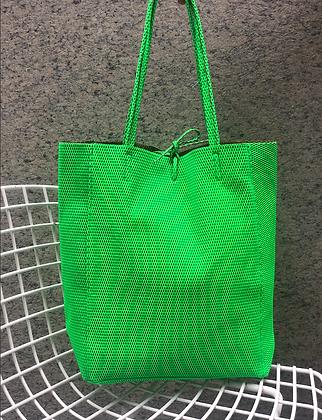Green Neon Leather Tote - Jijou Capri