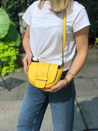 Yellow Vivi Grained Crossbody Bag - Jijou Capri