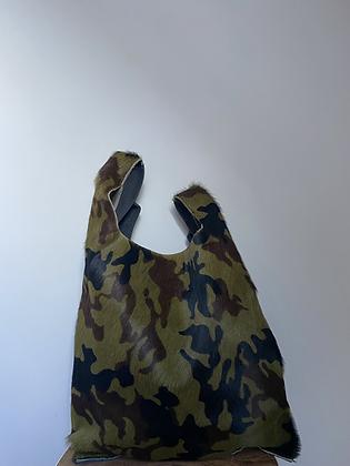 Army Tokyo Pony leather handbag- Jijou Capri