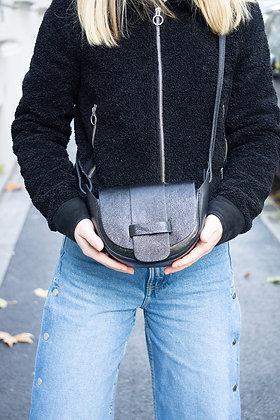 Black Vivi Metallic Crossbody Bag - Jijou Capri