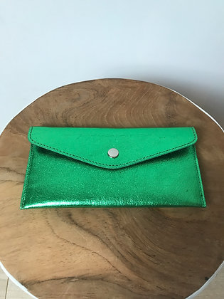 Wallet Bobo Metallic Bright green - Jijou Capri