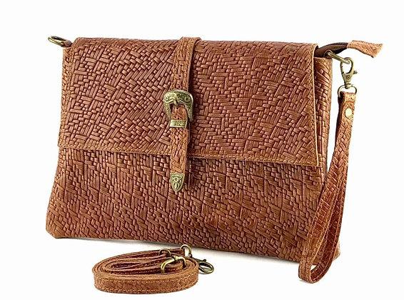 Eugene Woven Leather Crossbody Bag