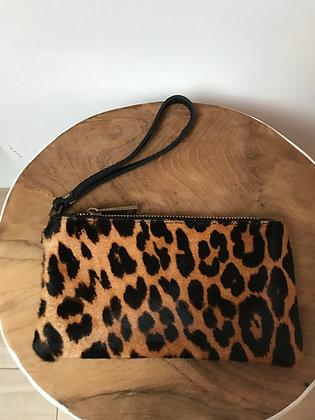Cheetah Ziplet Pony Leather Wallet - Jijou Capri