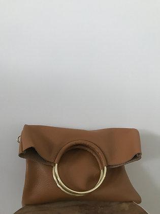 Twiggy Camel Grained Leather Handbag - Jijou Capri