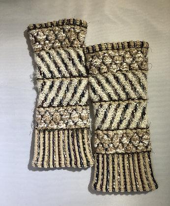 Woven Fingerless Gloves : 200585 Col 1 - Jijou Capri