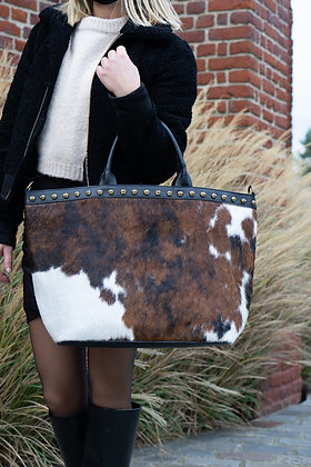 Cow Minos Pony Leather Handbag - Jijou Capri