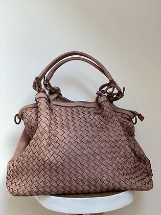 Patricia Blush Vintage Leather Handbag - Jijou Capri