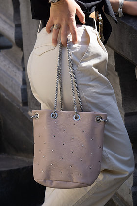 Blush Liliana Bucket Studs Crossbody Bag - Jijou Capri