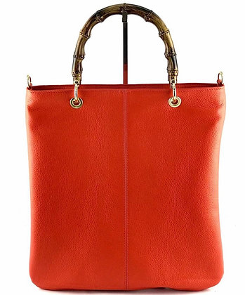 Winona Bamboo Leather Tote Bag