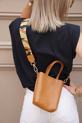 Cloclo Strap Leather Crossbody Bag