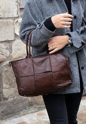 Brown Evangeline Vintage leather handbag - Jijou Capri