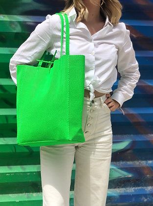 Neon Leather Tote