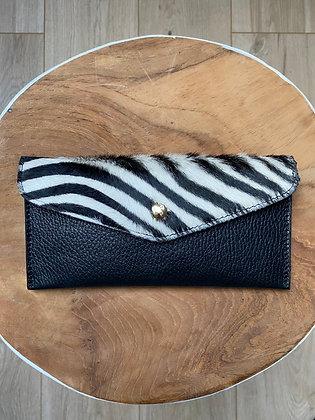 Zebra Wallet Bobo Pony leather - Jijou Capri