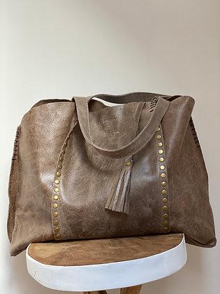 Taupe Vintage Courmayeur  Handbag - Jijou Capri