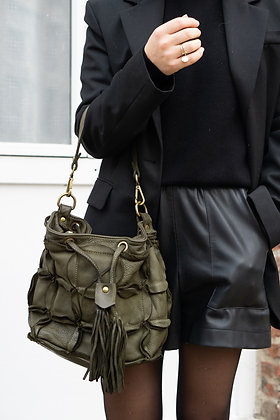 Olive Helbert vintage Bloss Leather Handbag - Jijou Capri