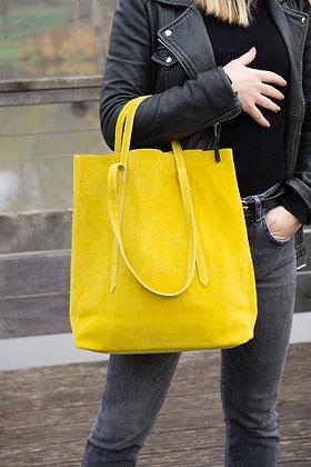 Sibilla Yellow Suede Handbag - Jijou Capri