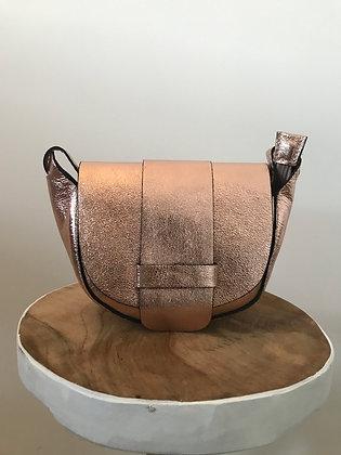 Rose Gold Vivi Metallic Crossbody Bag - Jijou Capri