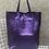 Thumbnail: Metallic Purple Leather Tote - Jijou Capri
