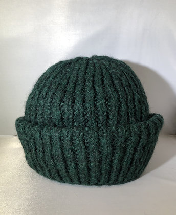 Cuffed Beanie JJ73 green - Jijou Capri