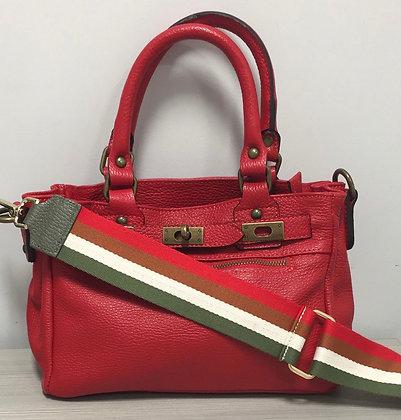 Mini Sophia Strap Leather Handbag Jijou Capri