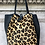 Thumbnail: Leather Half Pony Cheetah Tote Bag - Jijou Capri
