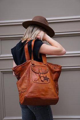 Star leather vintage Tote Bag