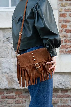 Joy Brown Leather Crossbody Bag - Jijou Capri