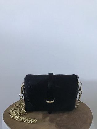 Lily Pony Black Leather Crossbody bag - Jijou Capri