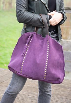 Purple Courmayeur Suede Handbag - Jijou Capri