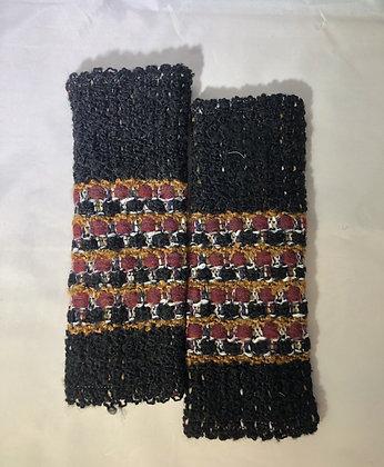 Woven Fingerless Gloves : 200581 Col 6 - Jijou Capri