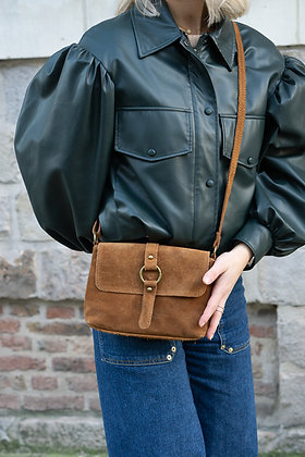 Milly Suede Leather Crossbody Bag