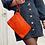 Thumbnail: Orange Ziplet Vintage Leather Wallet - Jijou Capri