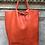 Thumbnail: Orange Leather Tote Bag - Jijou Capri
