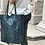 Thumbnail: Leather printed Snake Tote Bag