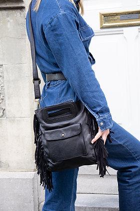 Mariella Fringes Vintage Leather Crossbody Bag