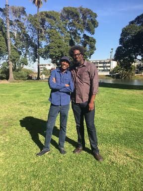 CJ Jones with W. Kamau Bell