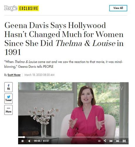 Geena Davis PEOPLE Exclusive Lumos PR