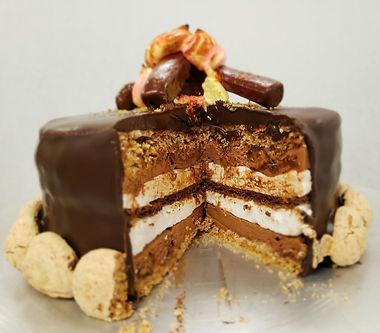 smores entremet cake
