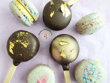 Chocolate Dipped Macaron Pops