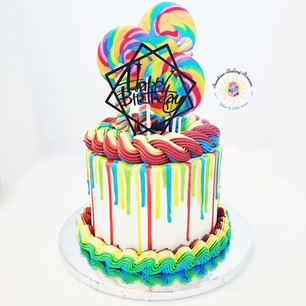 Rainbow Lollipop cake