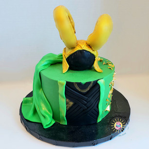 Marvel Loki Cake