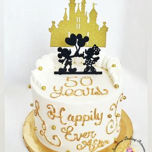 Disney 50th Anniversary Cake