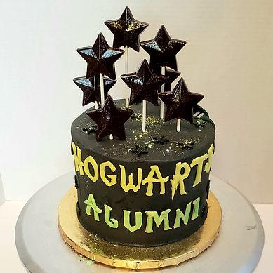 Hogwarts Alumni graduation cake