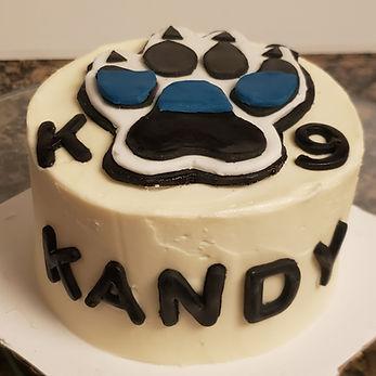 k9 officer cake