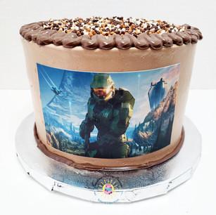Master Chief Halo cake