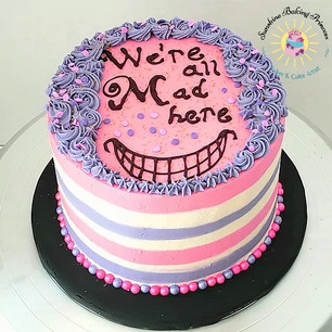 Alice in Wonderland Cheshire cat cake