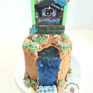 Disney Splash Mountain Cake