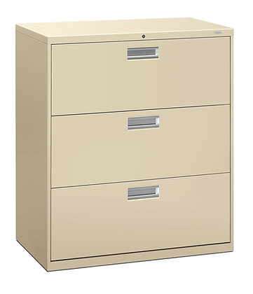 "3 Drawer Lateral File, 36""W, Putty"