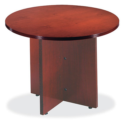 """Round Conference Table w/ X-Base - 42"""""""